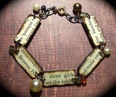 """Allison Cooling - """"Vintage Bookworm Bracelet"""" - LOVE this!"""