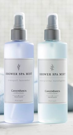 Transform your shower into a spa-like retreat with the restorative power of aromatherapy. As you shower, steam activates the Canyon Ranch Collection Shower Spa Mist, releasing rejuvenating fragrance that promotes clarity of mind, alleviates the day's stresses and even relieves respiratory inflammation.