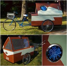 Although this is an art piece, it does show potential for a real trike camper.