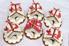 Купить Пряничные домики - пряничный домик, козульное тесто, имбирное тесто, подарок, пряничные домики