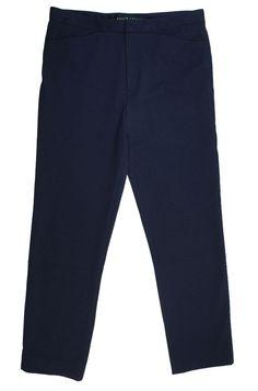 RALPH LAUREN Size M Black Label Navy Blue Knit Crop Capri Pants EUC  #RalphLauren #CaprisCropped