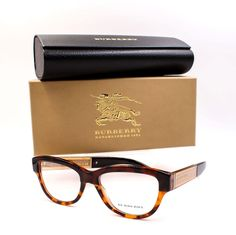 55bd1b1f5aa BURBERRY 2208 3559 Eyeglasses Frames Glasses Dark ~ Light Tortoise ~ 53mm