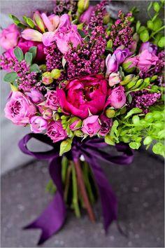 DIY Magenta Wedding Bouquet - Weddbook