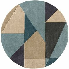 Duck Egg Blue Rugs, Circle Rug, Rugs Online, Craftsman, Hand Carved, Carving, Wool, House Styles, Pastel