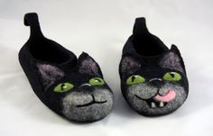 These felted slippers are made from merino wool. In felting process were used also only natural tools: hot water and soap. Felted slippers will