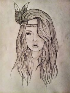 My first ever portrait (obviously not self) - Bohemian woman pencil drawing #art #cool #hippie https://www.facebook.com/dreamchasingart More