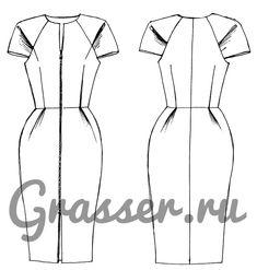 Бесплатная выкройка платья, модель №289, магазин выкроек grasser.ru