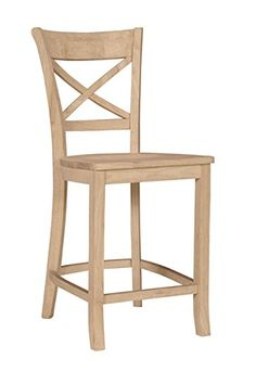 Solid Wood X-Back Counterstool 24