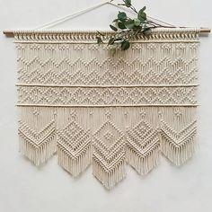 Such clean work of Macrame Curtain, Macrame Bag, Macrame Jewelry, Macrame Supplies, Macrame Projects, Rope Art, Macrame Design, Macrame Tutorial, Weaving Art
