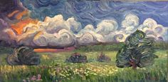 Incoming Storm, Oil on Canvas 24x12in - Ryan J Flynn Masonic Artist