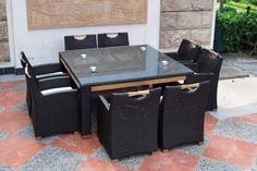 FREEDOM 8 SEAT SQUARE OUTDOOR DINING SUITE BAYGALDSFESSODS06