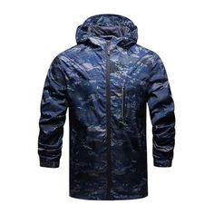 New Arrivals Spring And Fall Men's brand hooded sportswear jacket windbreaker outerwear men jacket Zipper Thin casual Coats