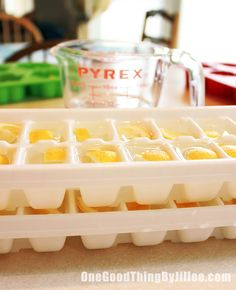 Brilliant! Keep your garbage disposal smelling good with lemon and vinegar ice cubes!