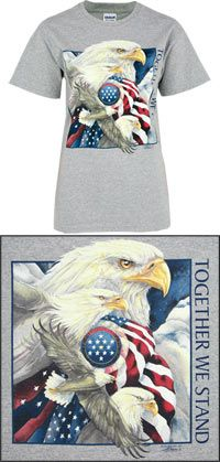 Together We Stand Flag T-Shirt at The Veterans Site