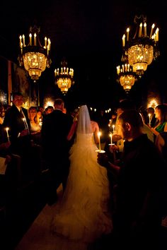love the candle lit entrance...