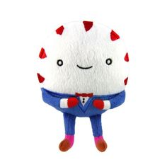 """We're all candy here."" - Peppermint Butler Get your dog his own Peppermint Butler that crinkles and squeaks! The well-dress peppermint candy from the popular show Adventure Time wears the traditional"
