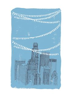 Roof Party Wall Art Prints by Cheeky Design | Minted