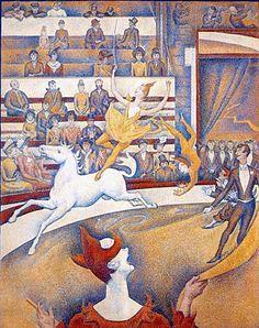 IL CIRCO Seraut- 1890/91-  Olio su tela- Parigi