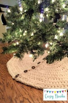 This listing is for a CROCHET PATTERN only, so that you can make your own Farmhouse Christmas Tree Skirt! Crocheted to create a knit ribbing effect, this chunky yarn tree skirt inspired by Farmhouse decor is very popular right now and seen in many high-end stores. Instant download PDF