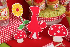 Red Riding Hood Birthday Party Graphic Cutouts by LeeLaaLoo Birthday Party Themes, Girl Birthday, Party Corner, Red Riding Hood Party, Magic Party, Three Little Pigs, Woodland Party, Childrens Party, Little Red