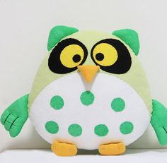 Cute Stuffed owl Doll Baby Toys, sewing Kits,Pattern step by step Tutorial Sewing Pattern,PDF pattern download, Plush Stuffed Animal Fluffed