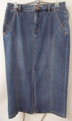 Jeanstar Jean Skirt Blue Denim Straight Pencil Women's Size 6 #Jeanstar #StraightPencil