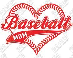 Baseball Mom Heart Shaped Laces Custom DIY Iron On Vinyl Shirt Decal Cutting File in SVG, EPS, DXF, JPEG, and PNG Format