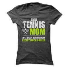 I AM A TENNIS MOM T Shirts, Hoodies, Sweatshirts. CHECK PRICE ==► https://www.sunfrog.com/Fitness/I-AM-A-TENNIS-MOM-Ladies.html?41382