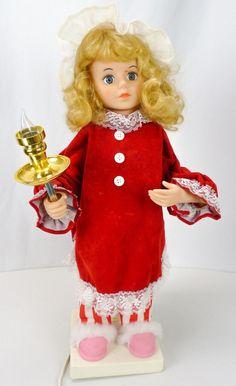 Vintage Telco Motion-Ettes Animated Lights Xmas Pajamas Girl Display Figure Doll