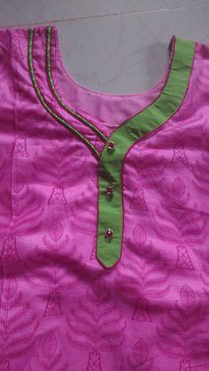 Chudithar Neck Designs, Salwar Neck Designs, Neck Designs For Suits, Churidar Designs, Blouse Back Neck Designs, Blouse Designs, Collar Kurti Design, Kurti Sleeves Design, Kurta Neck Design