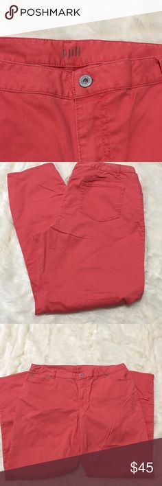 J. Jill pants Salmon color stretch boyfriend relax J. Jill pants Salmon/ coral color stretch boyfriend relaxed fit. Size 16. Can be worn dressed up or casually J. Jill Pants Straight Leg