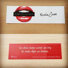Punto de libro de 'Elige tus fantasías' (Titania) de Nicola Jane #erótica #ficción