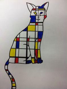 Mrs. Wille's Art Room: Mondrian inspired animal paintings