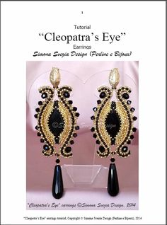 Tutorial CLEOPATRA'S EYE earrings / orecchini by PerlineeBijoux