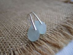 WATERDROPS...Scottish sea glass sterling silver by TiliabytheSea