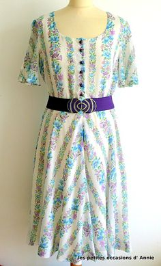 robe vintage fleur