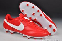 Cheap Nike The Premier FG Cleats Red/White Football Boots White Football Boots, Cheap Football Boots, Football Shoes, Soccer Shoes, Cheap Soccer Cleats, Nike Soccer, Nike Kobe Shoes, Sneakers Nike, Nike Lebron