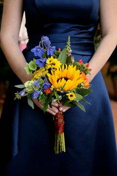 sunflower, bouquet by Every Blooming Thing, SLC, Pepper Nix Photography | @Kathryn Lillard Bride & Groom magazine