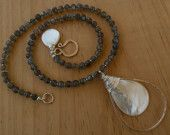 Labradorite And Mother Of Pearl Necklace www.taliaserinese.etsy.com