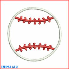 Baseball Applique Machine Embroidery Designs 4x4, 5x7 & 6x10 Instant Download