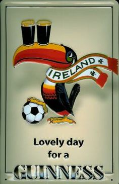 GUINNESS LOVELY DAY FOOTBALL SCARF Metal Pub Sign | Vintage Irish | Home Bar