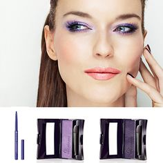 Purple Glam: Flaunt electric color with this Purple Look, whether your eyes are hazel, green or blue, this Look is sure to suit you! Bonis Bonis Rocher Canada and Day Makeup, Makeup Tips, Hazel Green, Beauty Youtubers, Purple Eyeshadow, All Things Purple, Lip Plumper, Beauty Make Up, Violet