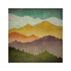 MOUNTAIN VIEW Smoky Mountains Green Mountains - NATIVE VERMONT STUDIO - Illustration by Ryan Fowler
