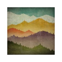 MOUNTAIN VIEW Smoky Mountains Green Mountains - NATIVE VERMONT STUDIO - Illustration by Ryan Fowler