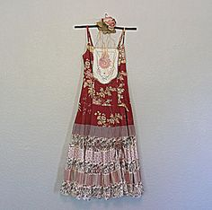 Upcycled Women's Patchwork Dress Boho by AmadiSloanDesigns