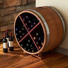 Reclaimed Half Barrel X Wine Rack at Wine Enthusiast - $525.00