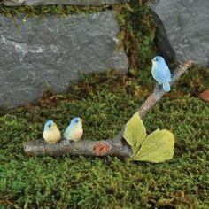 Fairy Garden Supplies. Fairy Garden Miniature Bluebirds. $9.99