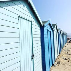 I came across these beach huts today on a day out in Dorset. Perfect blues.