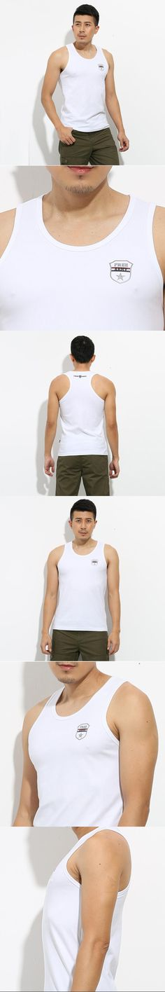 2017 Brand Tank Tops Fashion Cotton Men Sleeveless Tops Tees For Male Bodybuilding Tops Summer Casual White Tank Tops MS-679
