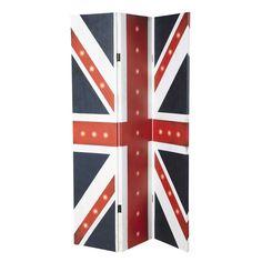 Raumteiler BRITAIN aus Stoff mit britischer Flagge, B 180cm
